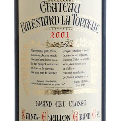 Etiquette Château Balestard La Tonnelle 2001