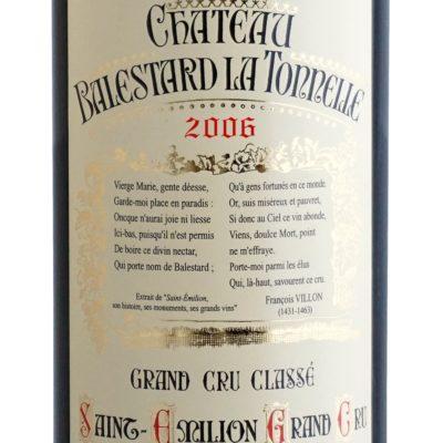 Etiquette Château Balestard La Tonnelle 2006