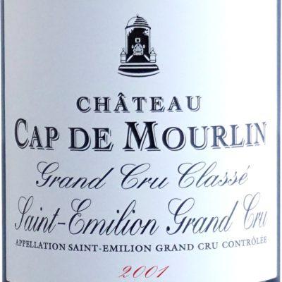 Etiquette Château Cap De Mourlin 2001