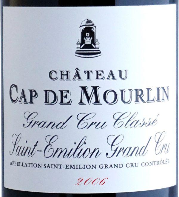 Etiquette Château Cap De Mourlin 2006