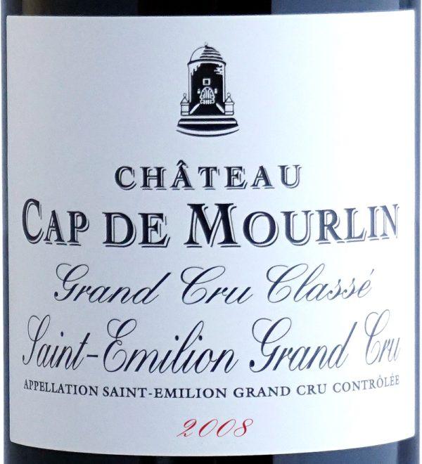 Etiquette Château Cap De Mourlin 2008