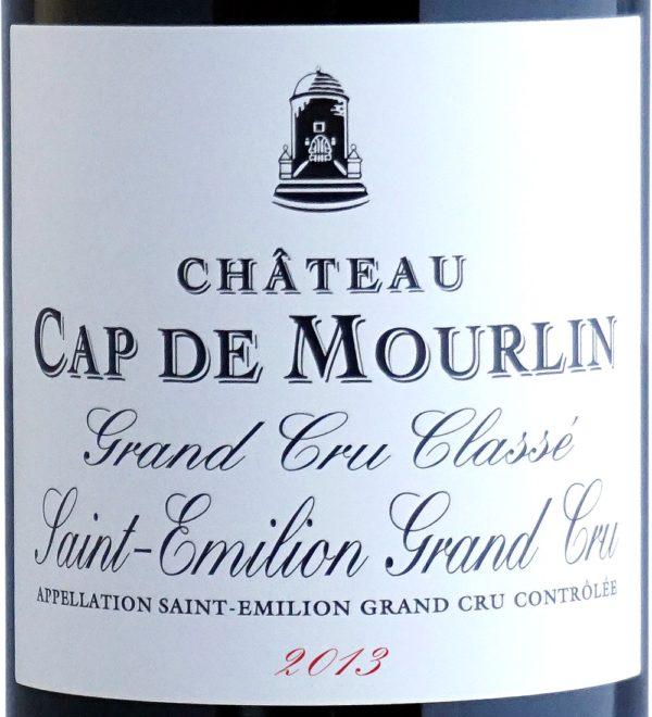 Etiquette Château Cap De Mourlin 2013