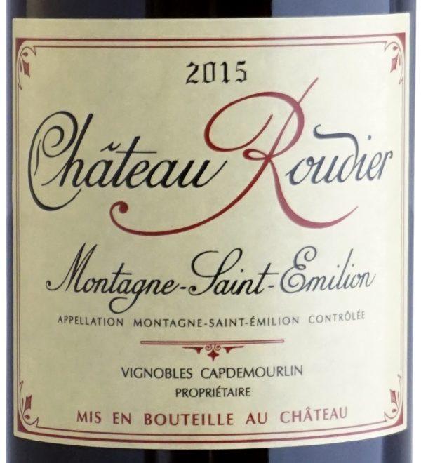 Etiquette Château Roudier 2015