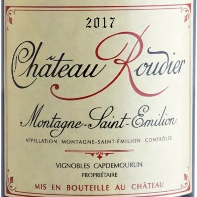 Etiquette Château Roudier 2017
