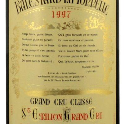 Etiquette Château Balestard La Tonnelle 1997 Magnum