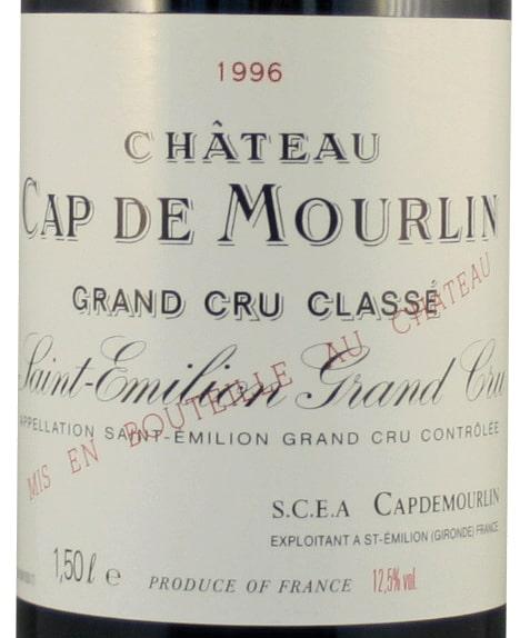 Etiquette Château Cap De Mourlin 1996 Magnum