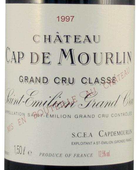Etiquette Château Cap De Mourlin 1997 Magnum