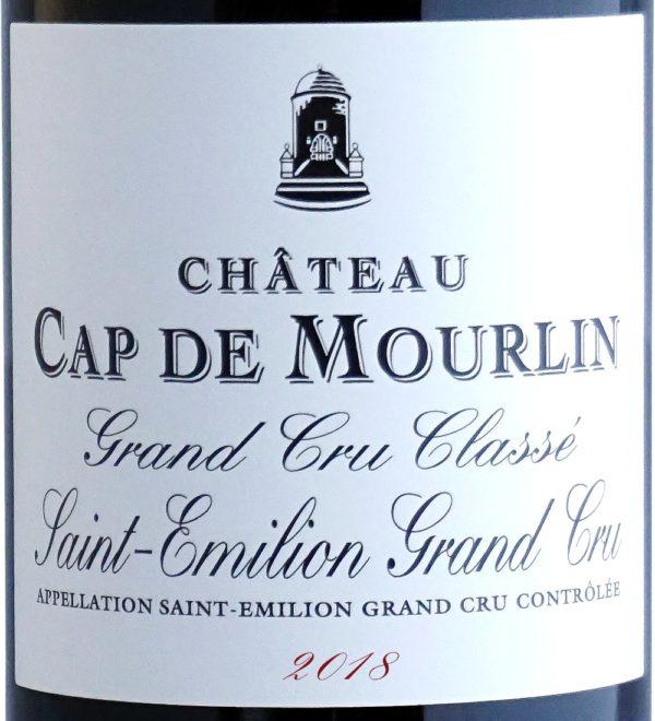 Etiquette Château Cap De Mourlin 2018