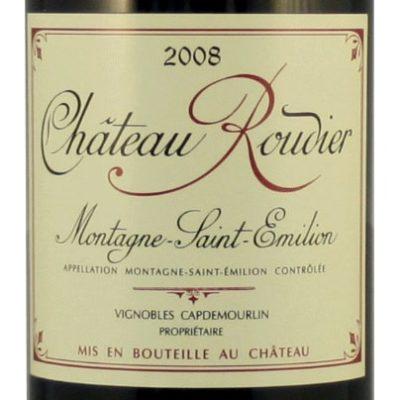 Etiquette Château Roudier 2008