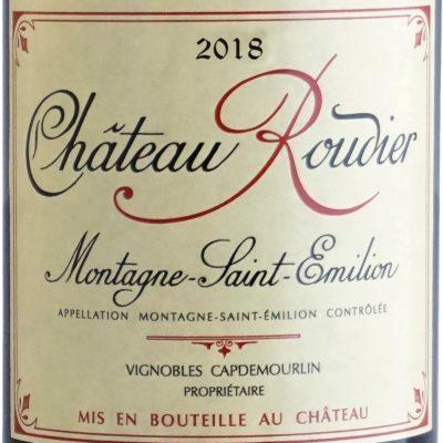 Etiquette Château Roudier 2018