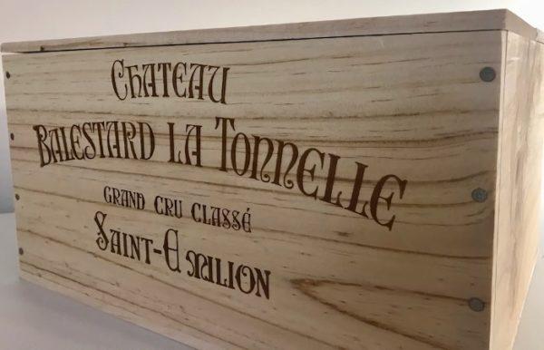 Caisse en bois Château Balestard La Tonnelle
