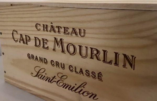 Caisse en bois Château Cap de Mourlin