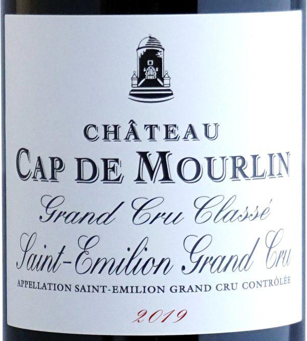Etiquette Château Cap De Mourlin 2019