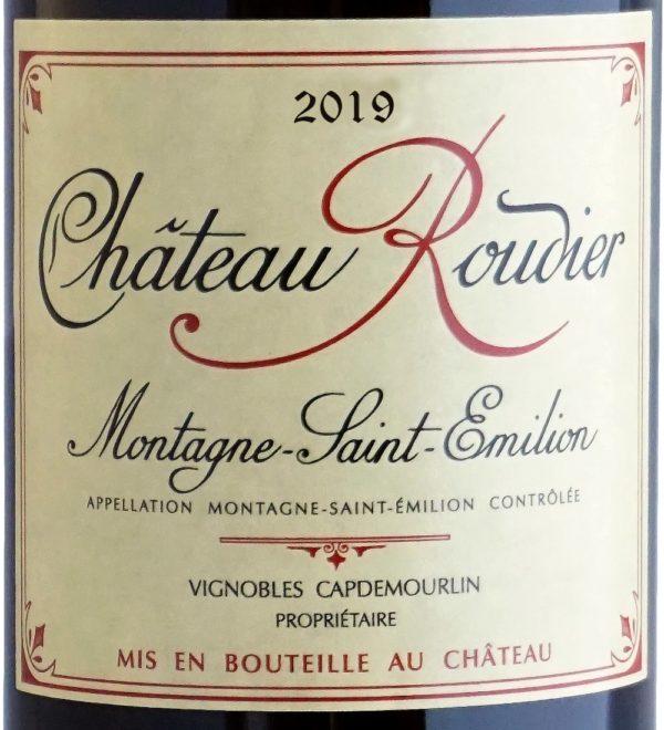 Etiquette Château Roudier 2019